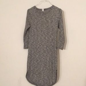 Gray long sleeve dress.